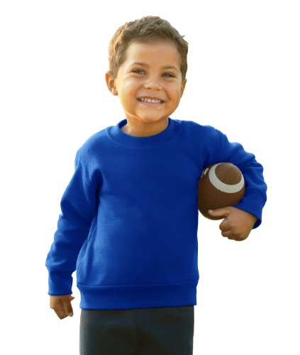 Toddler/Juvenile Crew Neck Sweatshirt (Royal) (2T) - Blue Infant Sweatshirt