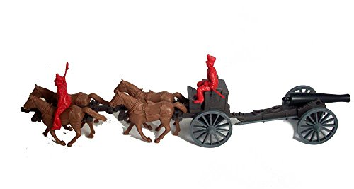 Alamo Mexican 4 Horse Limber and 12lb Cannon with Two Figures in 54mm By Classic Toy Soldiers, Inc