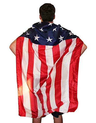 Americapes Patriotic American Flag Cape