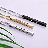 Personalized Couple Necklace Stainless Steel