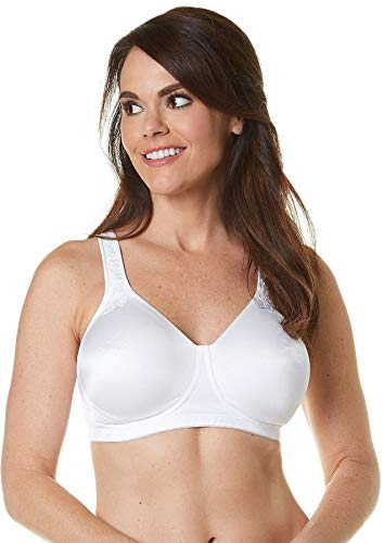 Playtex Women's 18 Hour Breathably Cool with Cushioned Comfort Strap, White