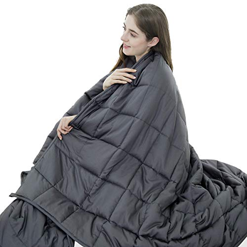 Cheap Excellentall Weighted Blanket for Deeper Sleep (5lbs Twin Size 36