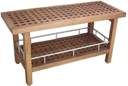 AquaTeak Patented Kai Corner Teak and Stainless 3 Shelf Corner Stand -  AquaTeak®, 394