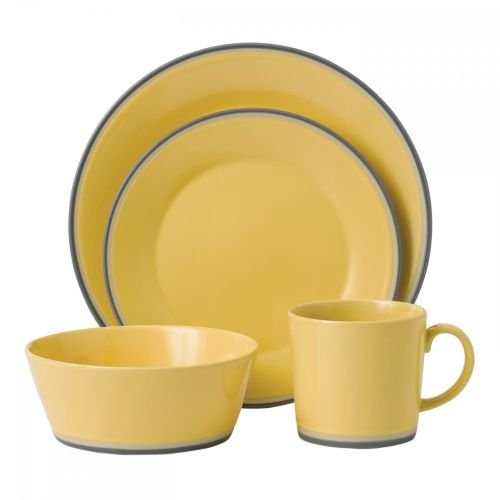 Yellow 4 Piece Place Setting - Royal Doulton 4-Piece Colors Place Setting, Yellow