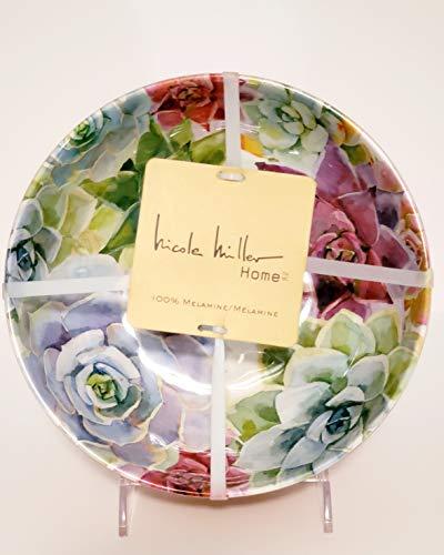 - Nicole Miller Floral Succulents Melamine 7-1/2