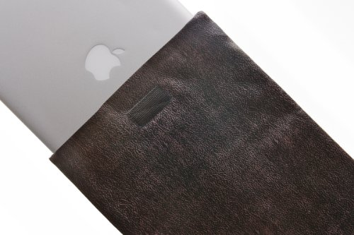 Kuzy 41 Espresso-Brown Leather Sleeve Cover 13-Inch for Macbook PRO 13.3