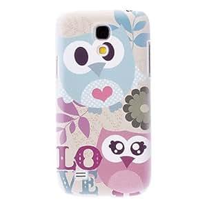 CeeMart Matte Style Love Cartoon Design Owl Pattern Durable Hard Case for Samsung Galaxy S4 Mini I9190 by ruishername