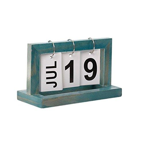 (Yezijin Home Decor, Vintage Style Perpetual Calendar DIY Calendar Crafts Office School Decoration)