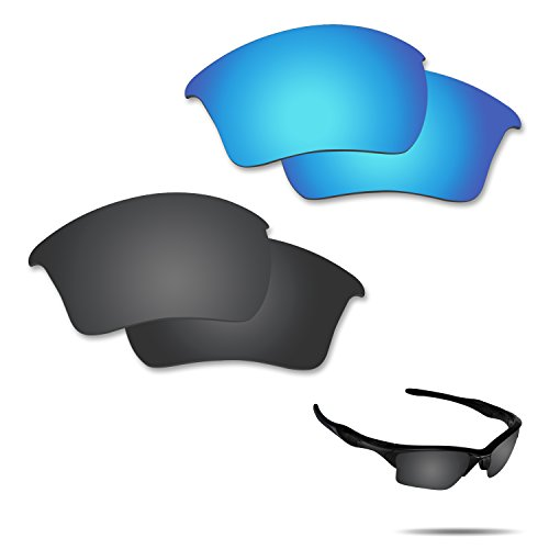 Fiskr Anti-saltwater Polarized Replacement Lenses for Oakley Half Jacket 2.0 XL Sunglasses 2 Pairs - Polarizes Define