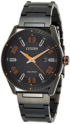 Citizen Mens Solar Powered Watch, Analog Display and Stainless Steel Strap BM6995-51E