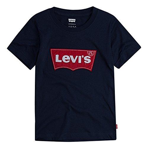 Levi's Little Boys' Batwing T-Shirt, Dress Blues Felt, 5