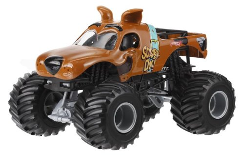 Hot Wheels Monster Jam Scooby Doo Die-Cast Vehicle, 1:24 Scale