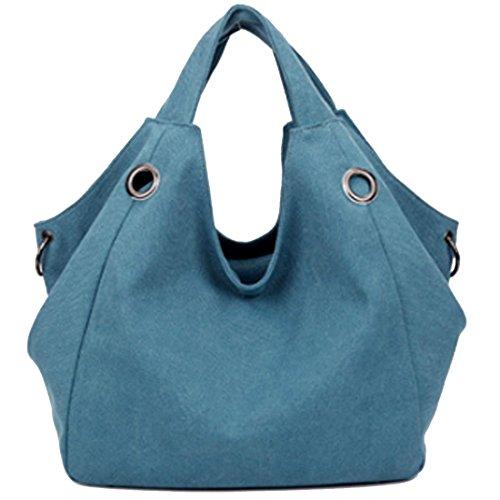 LerBen - Bolso al hombro para mujer gris gris talla única azul