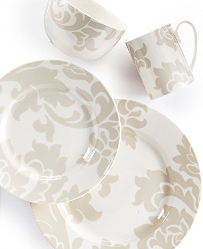 Collection Dinnerware Lisbon Grey 4 Piece Round Place Setting
