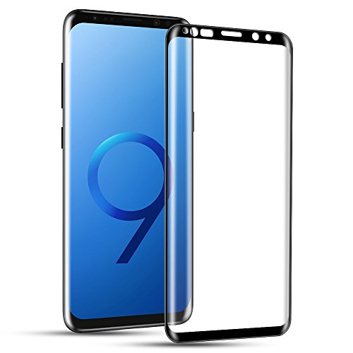 Galaxy S9 Screen Protector, Capshi S9 Tempered Glass 3D Curved Full Coverage HD Ultra Clear 9H Hardness Film(Anti-Scratch, Anti-Bubble) Screen Protector for Samsung Galaxy S9(5.8)-Black