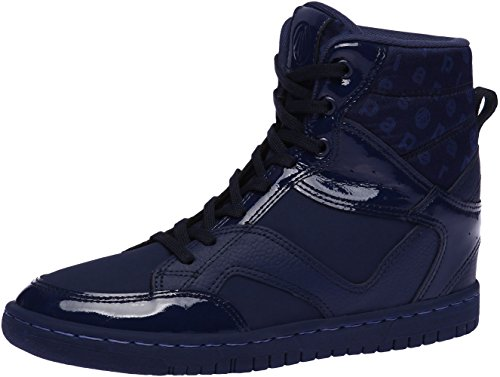 Paperplanes-1332 Women Casual Taller Insole High Top Lace Up Sneakers Shoes Navy IbUou7