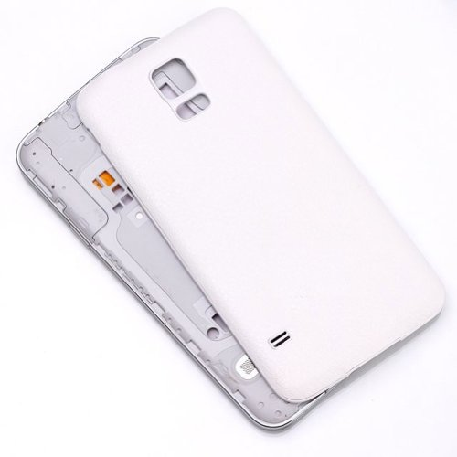 Life Sweetly White Litchi Pattern Replacement Back Cover Housing Battery Door Plastic Cover For Samsung Galaxy S5 i9600 with Free Screen Protector