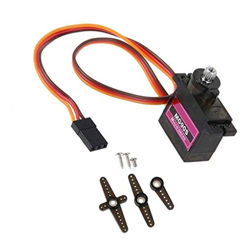 (MG90S Metal Gear Steering Gear Accessories - GorNorriss New MG90S Micro Metal Gear 9g Servo for RC Plane Helicopter Boat Car 4.8V- 6V)