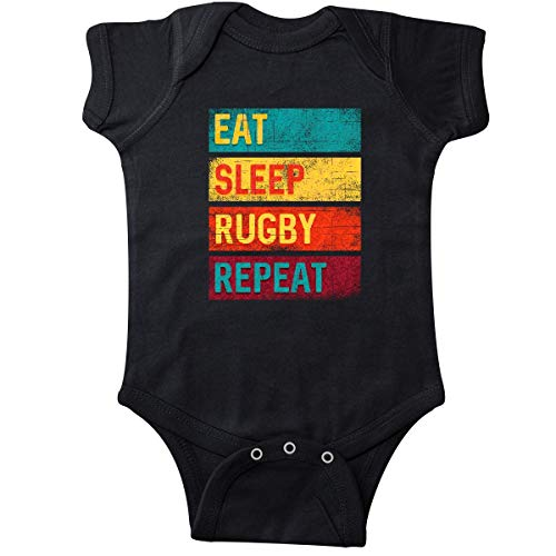 inktastic - Rugby Player Eat Sleep Rugby Infant Creeper 6 Months Black 33f40 ()