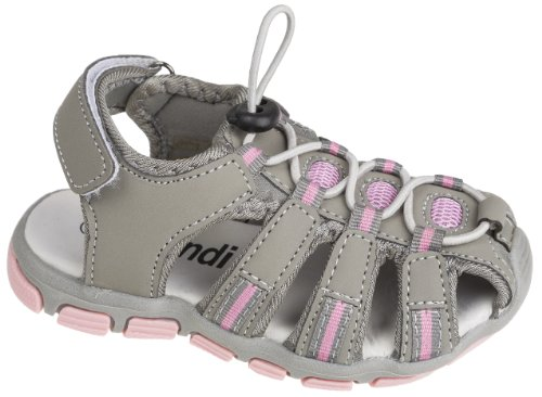 Unbekannt - Sandalias de vestir de Material Sintético para niña Grey - Grau/Rosa