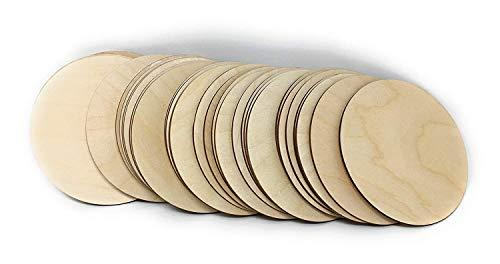 Gocutouts 3 Wooden Circle Cutouts Unfinished Baltic Birch Package of 25 (25)