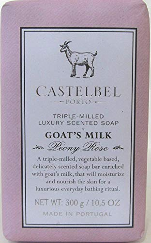 Castelbel Porto - Peony Rose Scented Soap Enriched With Goat's Milk - Triple Milled Luxury Soap Bar 10.5 Oz