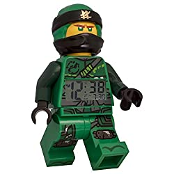 ClicTime Lego Ninjago Lloyd Minifigure (2018) Alarm Clock, 9.5, Green