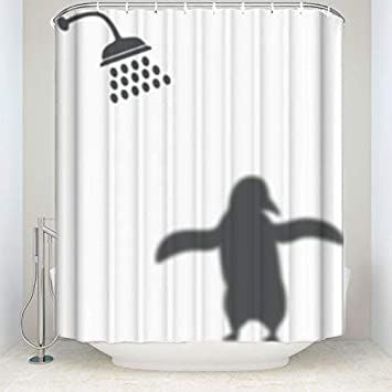 Amazon Com Z L Home Penguin Shadow Shower Curtains Animals Home