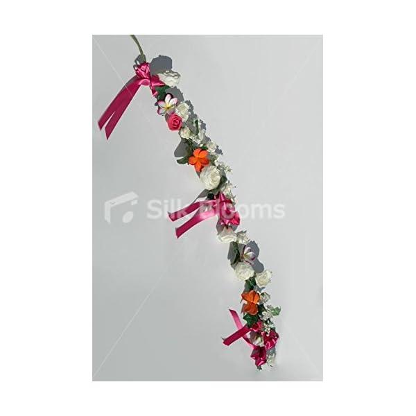 Pink, Orange & Ivory Frangipani, Rose & Peony Garland 140cm