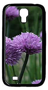 Brian114 Samsung Galaxy S4 Case, S4 Case - Black Hard PC Cases for Samsung Galaxy S4 I9500 Chive Flowers Ultra Fit for Samsung Galaxy S4 I9500