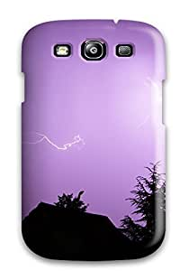 Galaxy S3 Hard Back With Bumper Silicone Gel Tpu Case Cover Lightning Storm