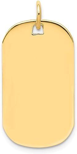 14k Yellow Gold Solid Polished Engravable Plain .013 Gauge Engraveable Round Disc Charm