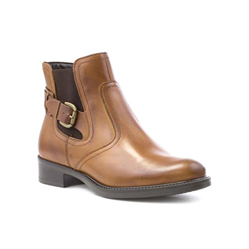 Tamaris Womens Tan Low Heel Ankle Boot Brown