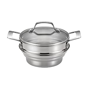 Circulon Stainless Steel Universal Steamer : Stainless indeed!
