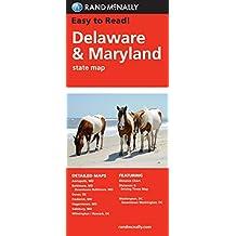 Rand McNally Delaware Maryland State Map