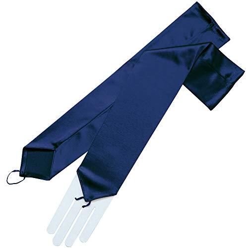 ZaZa Bridal Stretch Satin Fingerless Gloves Opera Length 16BL-Dark Navy by ZaZa Bridal