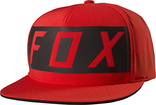 Fox Racing Men's Moth Transfer LE Snapback Adjustable Hats,One Size,Flame - Racing Hat Fox Print