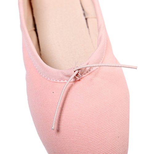 DoGeek Ballet Pointe Shoes Satin Ballet Shoes for Grirls/Womens/Ladies with Toe Pads, Ballet Ribbon and Pointe Shoe Elastic Pink