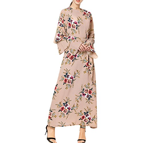 Zhuhaitf Taille Des Robes Femmes Fête De Mariage Soir Jalabiyas Abaya Moroccan Vêtements Islamic Dubai Noir Beige Rose