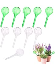 OBANGONG 10 PCS Plant Watering Bulbs Automatic Self Watering Globe Ball Plastic Travel Dripper Irrigation Devices for Indoor and Outdoor Plants