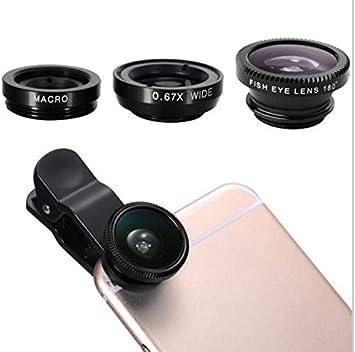 Lente 3 en 1 para Samsung Galaxy J6 Smartphone Universal Macro Fisheye Gran Angular Metal Funda Desmontable: Amazon.es: Electrónica