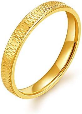 AieniD 18 Karat (750) Gelbgold Verlobungsringe Paar Heiligenschein Gold Hochzeitsring