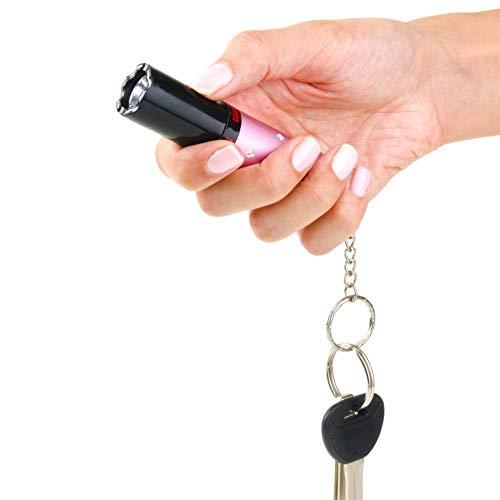 Guard Dog Security Elektra Lipstick Stun Gun for Women, Maximum Voltage - Police Strength, 100 Lumen Flashlight. Keychain. Rechargeable. Wall Charger (Best Guard Dog Stun Gun)
