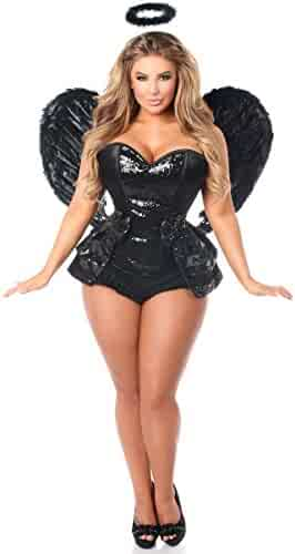 1ed551fe41c Daisy Corsets Women s Top Drawer 4 Piece Midnight Angel Corset Costume