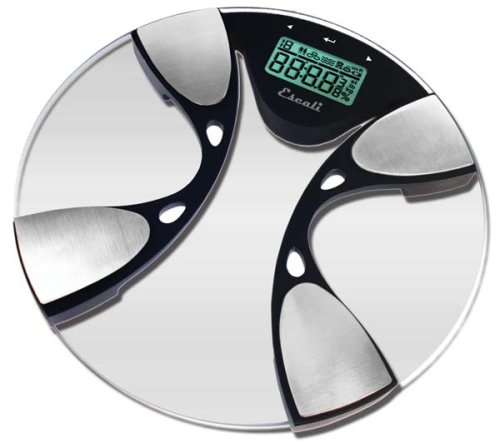 Escali Bfbw200 Glass Body Fat Body Water Digital Bathroom Scale  440Lb 200 Kg