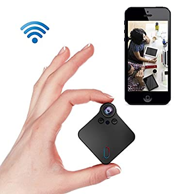 Lemebo Mini Spy Hidden Camera 1080P HD Cameras-Recording Night Vision Cam Securit Motion Detection Portable Surveillance Camera Built-in Battery for Indoor,Home,Car, Drone, Office from Lemebo