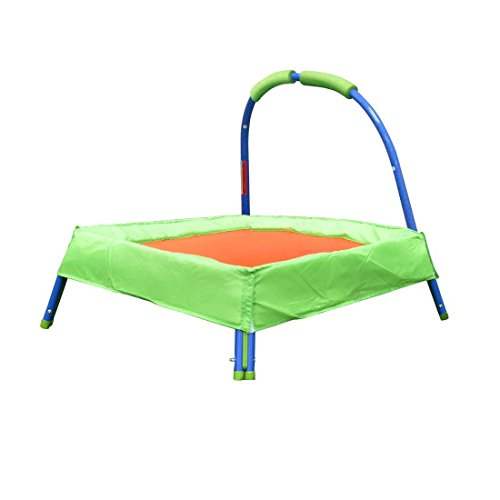Funmall Outdoor Indoor Toddler Kids Trampoline with Safe Handle