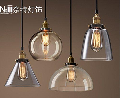 BGmdjcf Minimalist Glass Pendant Lightss , Woodruff ( Diameter 300Mm), Amber
