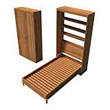Single Size Murphy Bed Plans DIY Hideaway Vertical Wall Bed Building Project