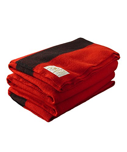 Collection Bay Point (Hudson Bay 6 Point Blanket, Scarlet with Black Stripes)